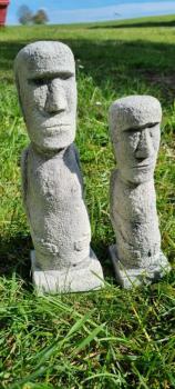 Gartenfigur Osterinsel Moai Set