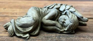 Gartenfigur schlafender Engel