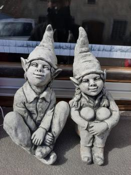 Gartenfiguren Elfenpaar